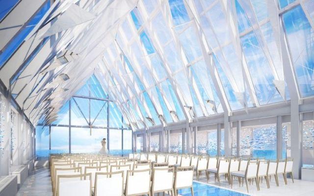 シェラトン・グランデ・トーキョーベイ・ホテル「クリスタルチャペル」が開業30周年を機にリニューアル