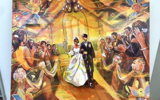 結婚式の新演出!真っ白なキャンバスに幸せな雰囲気を描く『ライブペイント』が日本上陸