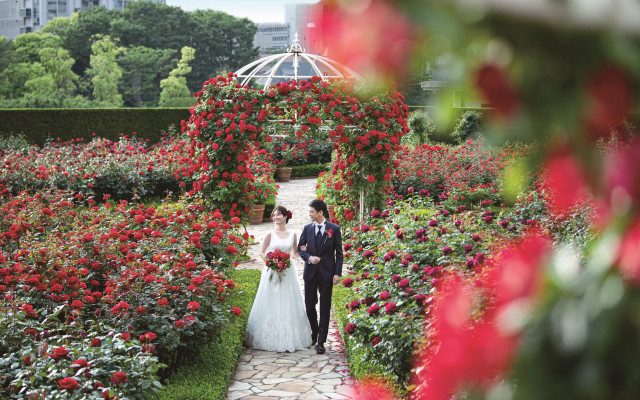 感動の挙式体験を!真紅のバラが広がる季節限定チャペルにて模擬挙式付きのフェアを開催!