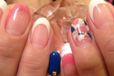 ピンク&ブルーミックスで!