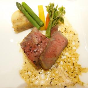 フランベされたお肉|166052さんのホテルキャッスル(山形)の写真(213529)
