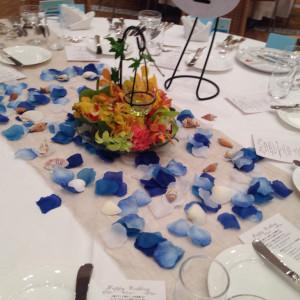 テーブルコーディネート|166783さんのグラン・ブルーチャペル カヌチャベイの写真(450423)
