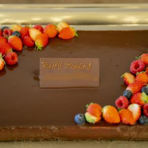新婦が大好きなチョコレートのケーキ。|308616さんのPinco Picon(ピンコピコン)の写真(1112647)