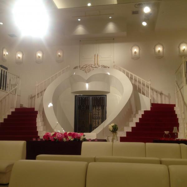 会場の階段