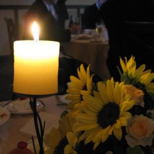 装花とキャンドル|339260さんのグランプラス セント・ヴァレンタイン(ウエディング取扱終了)の写真(19416)