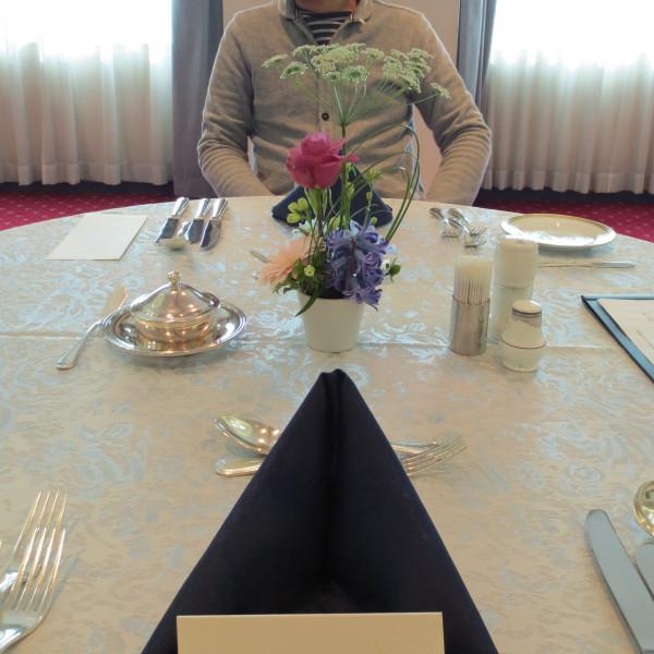 試食会場テーブル