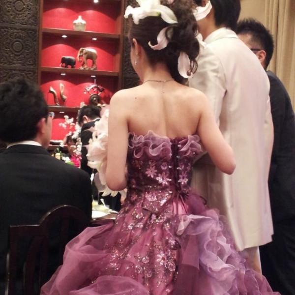 新郎新婦のドレス
