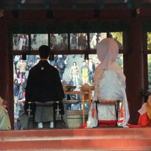 舞殿での挙式の様子|362818さんの鶴岡八幡宮(チアーズブライダルプロデュース)の写真(75712)
