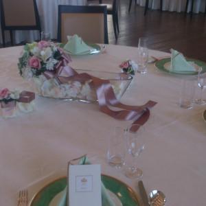 ゲストテーブル装花|365843さんのホテル ライフォート札幌の写真(142367)