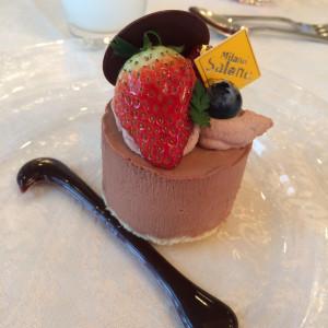 最後のデザート チョコレートムース|367473さんのミラノ・サローネ アネックスの写真(111946)