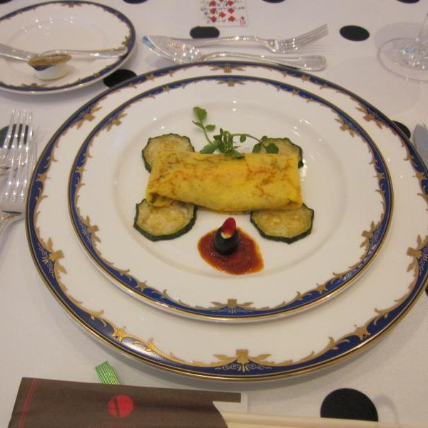 模擬披露宴で出された料理