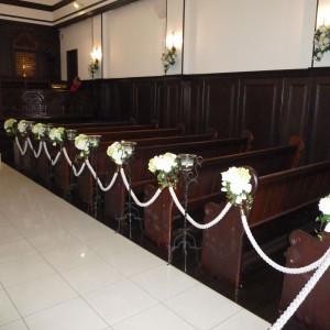 お花やキャンドルの飾りも素敵 373500さんの迎賓館ヴィクトリア金沢の写真(130520)
