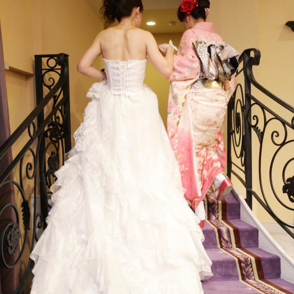 披露宴の入場退場に使える階段