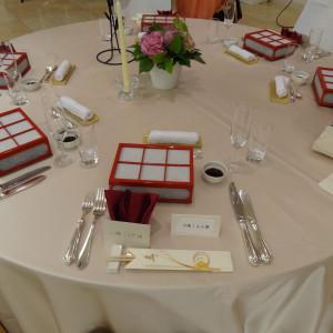 前菜、テーブルセットです。|374816さんのホテル金沢の写真(135828)