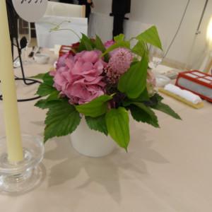 客席の装花です。|374816さんのホテル金沢の写真(135832)