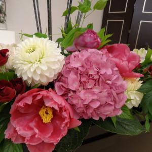 新郎・新婦席の装花です。|374816さんのホテル金沢の写真(135831)