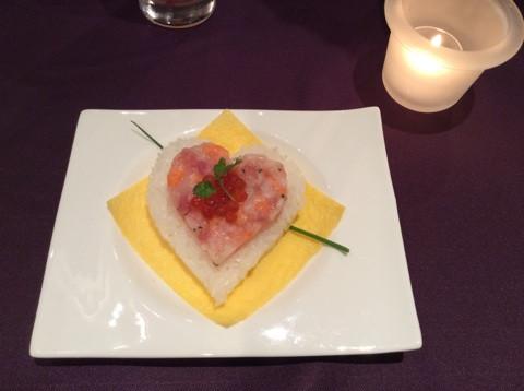 魚介のハートタルタルちらし寿司