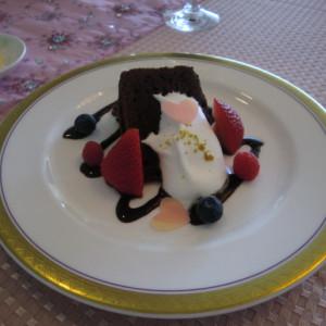 濃厚なガトーショコラ|397085さんの甲府富士屋ホテルの写真(218053)