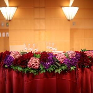 新郎新婦のお席|409901さんのTOKYO AMERICAN CLUB(東京アメリカンクラブ)の写真(254646)