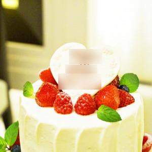 苺の沢山のったウエディングケーキ|419147さんのルクリアモーレ表参道の写真(291621)