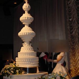 四段のウエディングケーキ|419280さんの岡山国際ホテルの写真(363777)