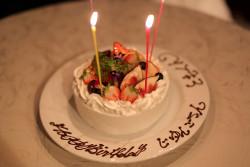 母へのサプライズバースデイケーキ