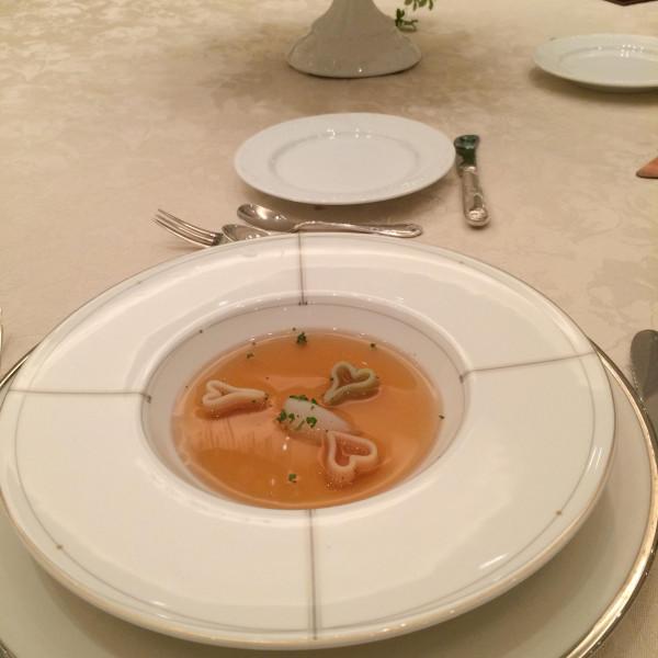 試食会にて スープ入れた後