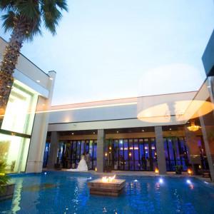 式場の真ん中にあるプールです。|429986さんのアイランドヒルズ迎賓館佐賀の写真(326906)