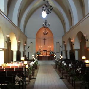 広くて天井が高い教会|431732さんのヴィラ・デ・マリアージュ 太田の写真(331618)