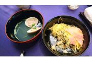 五目寿司、留め椀