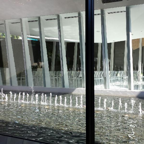 噴水も乾杯のタイミングなどで上がり演出が素敵です。