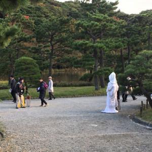 前撮りの様子|451390さんの三渓園 鶴翔閣(横浜市指定有形文化財)の写真(426660)