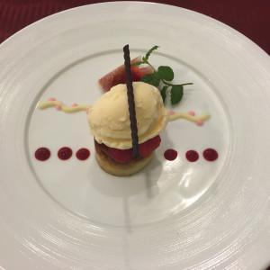 試食5 デザート|452895さんのソフィーバラ教会(グランドサンピア奈良)の写真(411158)