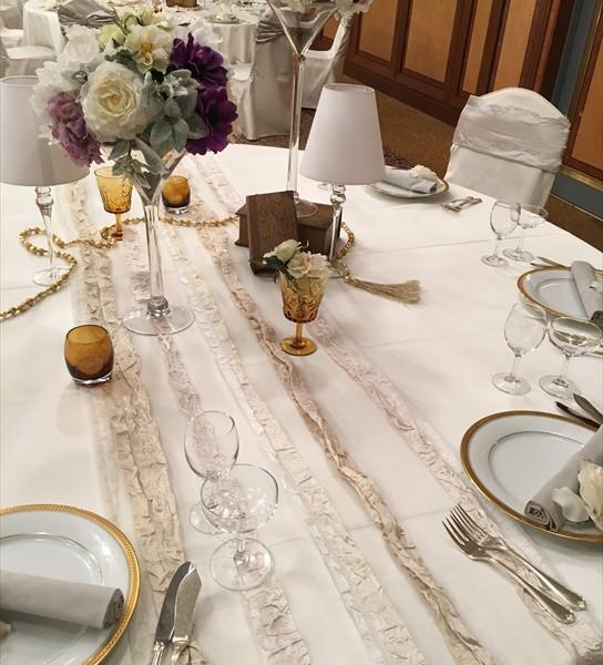 テーブルは高級感