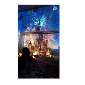 新郎新婦入場前のディズニープロジェクションマッピング|461493さんのROSA FELICEの写真(513499)