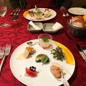 試食の前菜。彩り鮮やか。 471667さんのHOTEL NEW OTANI HAKATA (ホテルニューオータニ博多)の写真(475229)
