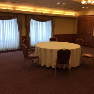 少人数用会食会場です。ここにテーブルを並べ10人で会食!|471827さんのホテル ライフォート札幌の写真(472559)
