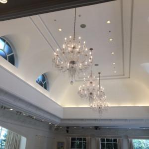 天井の様子|477399さんのアビー・ラ・トゥール教会(ウエディングセントラルパーク)の写真(487130)