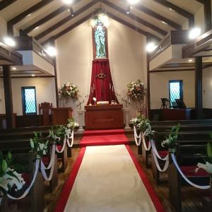 チャペル内です。 481486さんの軽井沢白樺高原教会/ホテルグリーンプラザ軽井沢の写真(628026)
