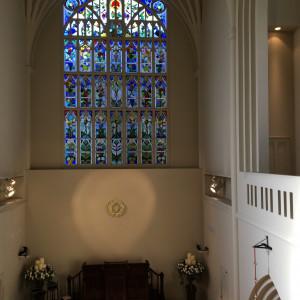 チャペル内|486711さんのアビー・ラ・トゥール教会(ウエディングセントラルパーク)の写真(549717)