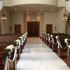 チャペル内|486711さんのアビー・ラ・トゥール教会(ウエディングセントラルパーク)の写真(549713)