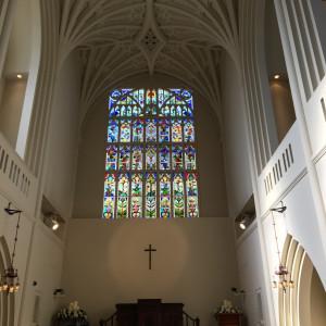 チャペル内|486711さんのアビー・ラ・トゥール教会(ウエディングセントラルパーク)の写真(549712)