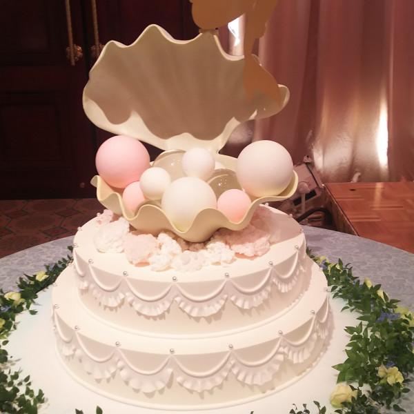 リトルマーメイドをイメージしたウェディングケーキ