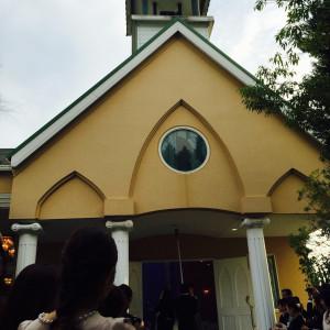 挙式後、新郎新婦で鐘を鳴らせます|495292さんのGarden House St.Mary(ガーデンハウスセントメリー)の写真(586898)