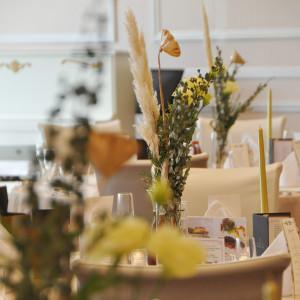 ゲストテーブル装花|495442さんのモルトン迎賓館 八戸の写真(692870)