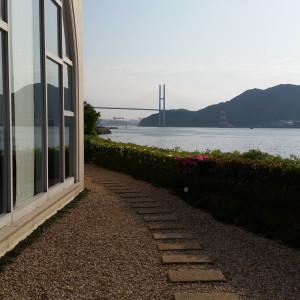 新郎新婦の控え室から外に出た景色|498854さんのベイサイド迎賓館(長崎)の写真(609162)