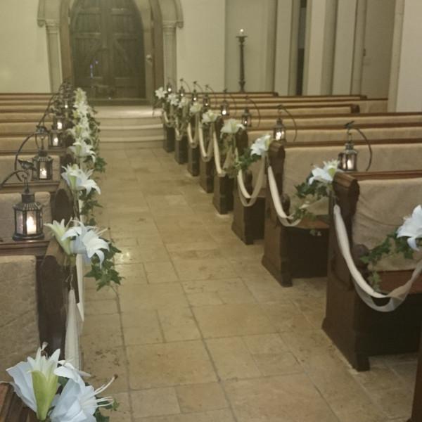 教会内のゲスト席