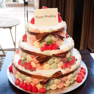 ケーキは数種類ある中の一つです|500996さんの8G Horie RiverTerrace Weddingの写真(625772)