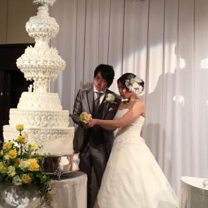 イミテーションのケーキでしたが迫力あって写真映えしました♪|501472さんのホテル熊本テルサの写真(622834)