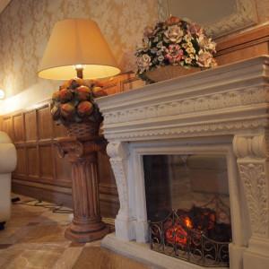 ステキな暖炉がありました!|502953さんのロックハート城ウエディングの写真(799231)